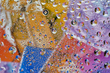 Background with water drop. Colour abstract and bubbles