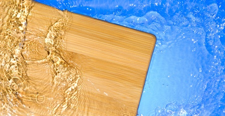 Texture wood .Background wood with splashing water Stock Photo - 11034714