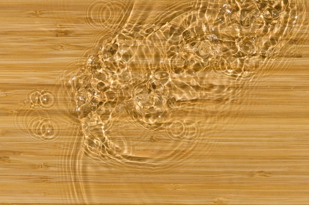 Texture wood .Background wood with splashing water   photo