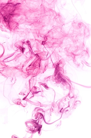 Creative smoke isolate on white background. Abstract fumes  photo