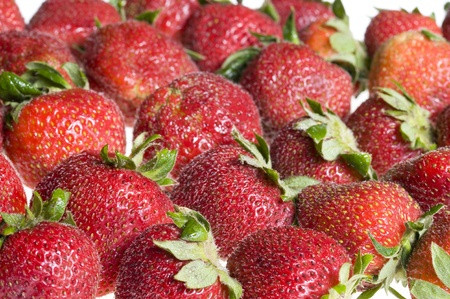 Background with red sweet strawberry