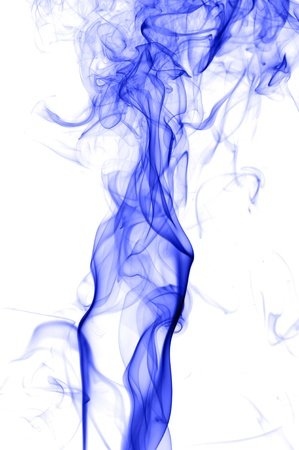 Creative color smoke isolate on white background