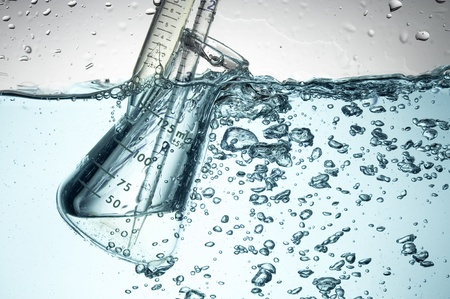 Chemische Test Tube. Medisch experiment met Laboratorium glas