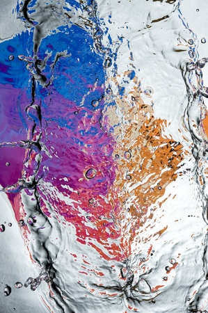 ripple: Black water surface with bubbles  Stock Photo