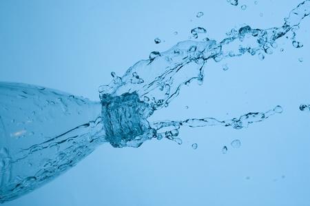 flowing water:  Splashing fresh mineral water    Stock Photo