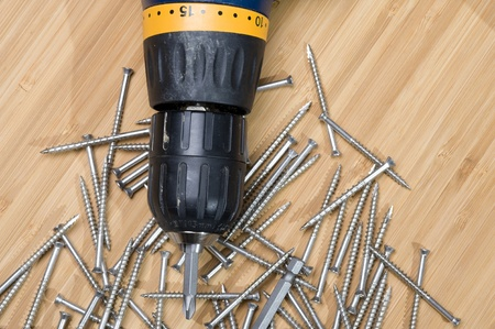 Background with screw. Construction equipment  Stok Fotoğraf
