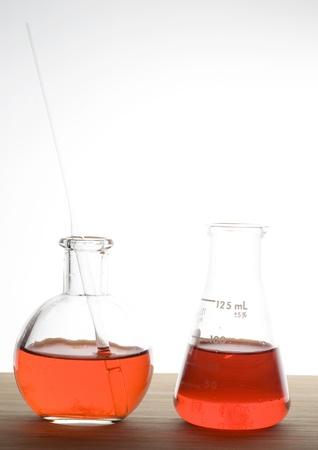 retort: Laboratory flask isolated on white background  Stock Photo