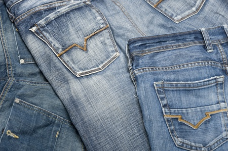 Background with blue jeans material  Banco de Imagens
