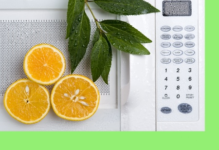 Control panel wtite microwave. Kitchen appliance