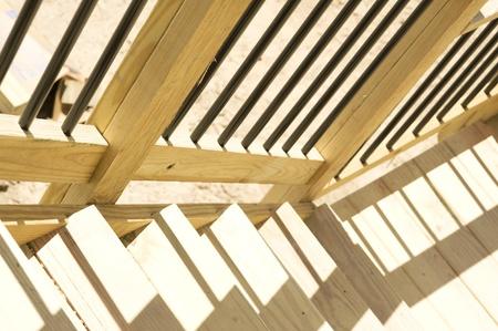 Outdoor deck. Wood construction