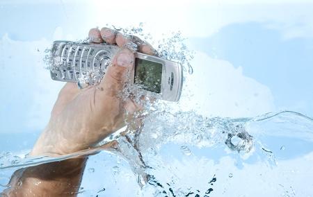 telecommunications equipment: Mobile phone broken in water