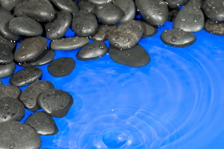 Pebbles and water. Nature background