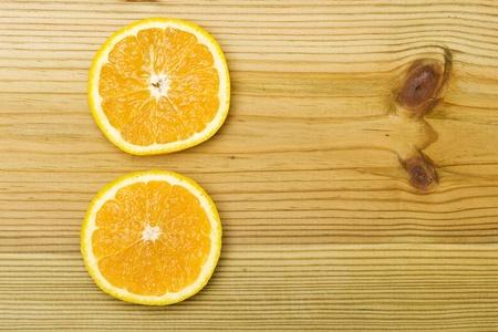 Orange on the woood background