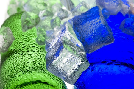 solid color: Colour abstract with ice and glass  Stock Photo