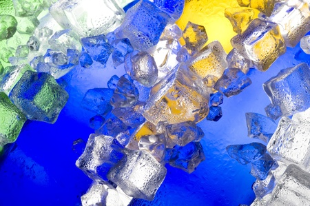Colour abstract with ice and glass  Stock Photo