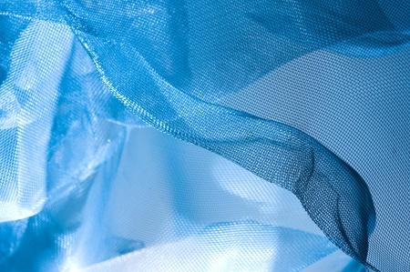 Fondo azul con malla metálica Foto de archivo - 11364127