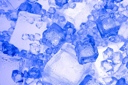 luster: Background with blue ice cube