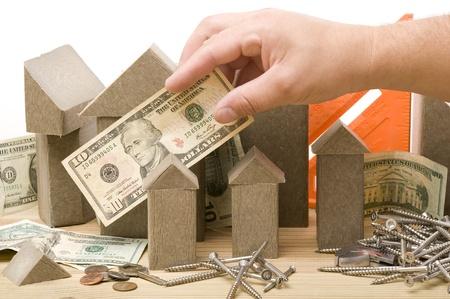 faade: House model. Construction business ideas