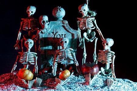 Halloween subject. Skeleton in smoke Stock Photo - 11364991