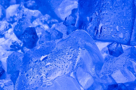 Background with blue ice cube  photo
