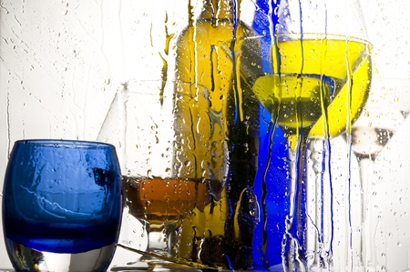 Creative colour background with beverage  photo