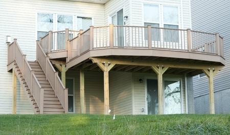Outdoor deck. Wood construction