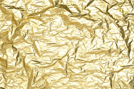 foil: Gold background with metallic foil