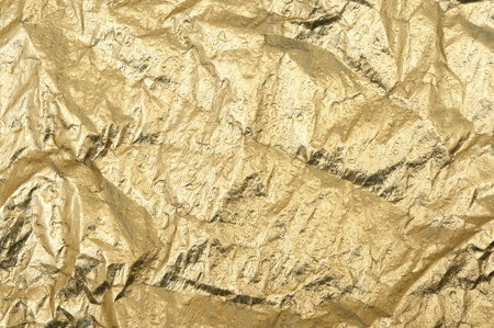 glister: Gold background with metallic foil