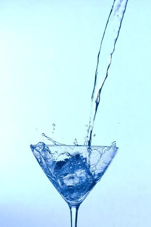 Splashing  blue fresh  cocktail photo