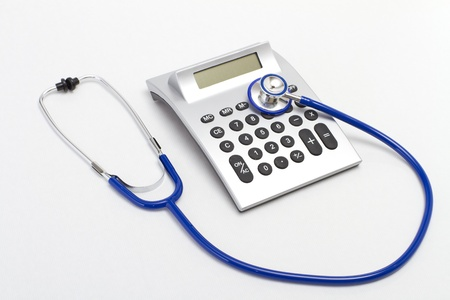 Stethoscope on the white background