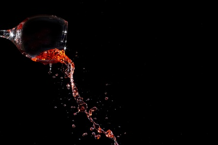 Splashing red wine Stok Fotoğraf