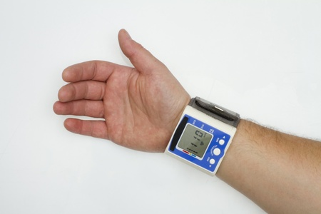 Pressure monitor on the arm