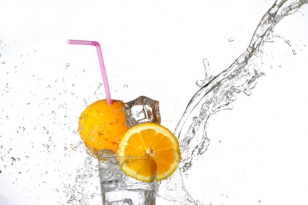Fresh drink with orange