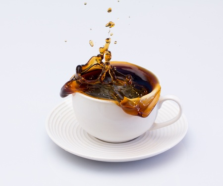 coffee cups: Coffee splash