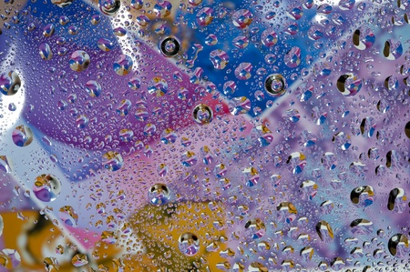 magnificence: Background with water drop. Colour abstract and bubbles