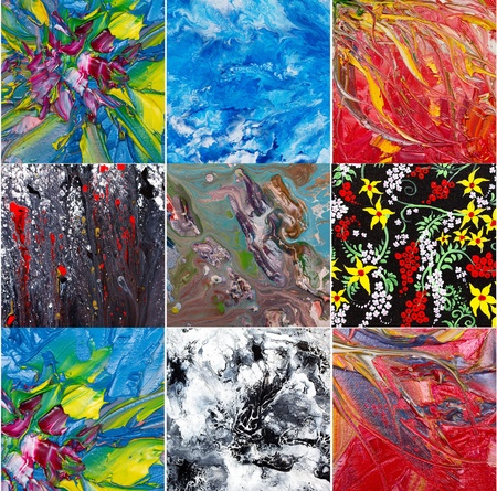 daubs: Abstract art . Painting collage Stock Photo