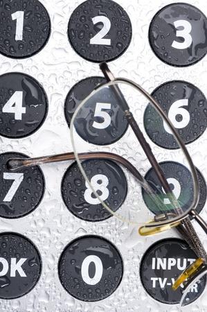 teclado numérico: Gafas y el teclado numérico del mando a distancia con botones