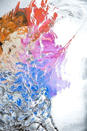Background with colourful splashing  water. Creative abstract  Stock Photo