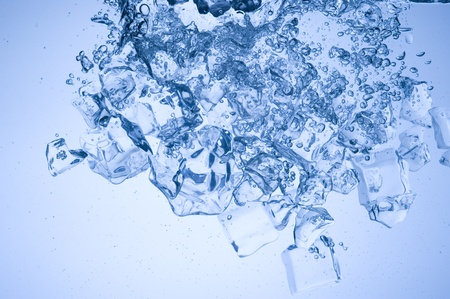luster: Abstract with blue ice. Creative splashing water  Stock Photo