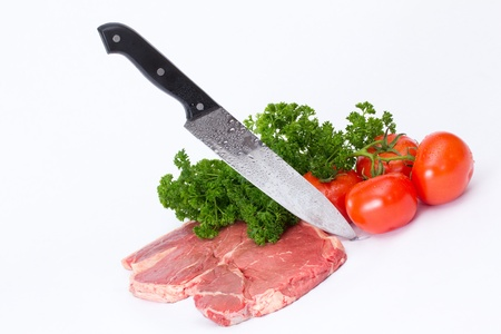 Raw meat.   Fresh steak Stock Photo - 12579702