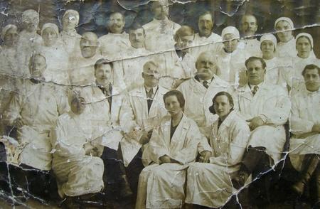 Oude foto verpleegkundigen