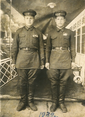 old photograph: Old photograph soldier