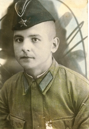 Old photograph soldier