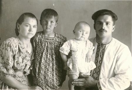 오래된 가족 사진