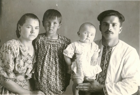 vintage photo: Old family photograph