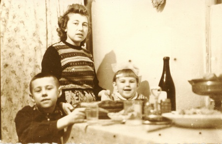 old photo: Old family photograph