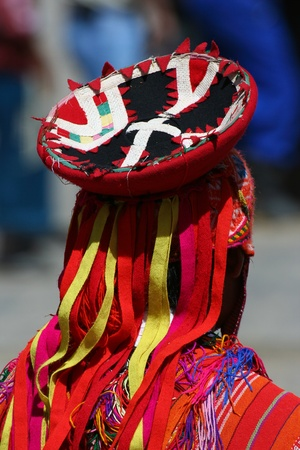 Detail of andean dancer clothes photo