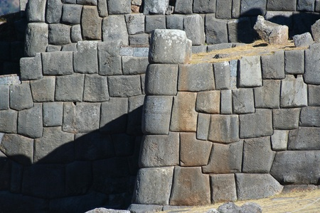 Inca Stone walls at Sacsayhuaman photo