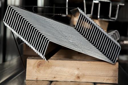 Bundle of steel zinc coatet Z profiles