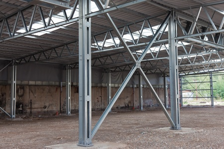 Cross bracing of steel structure Stock Photo
